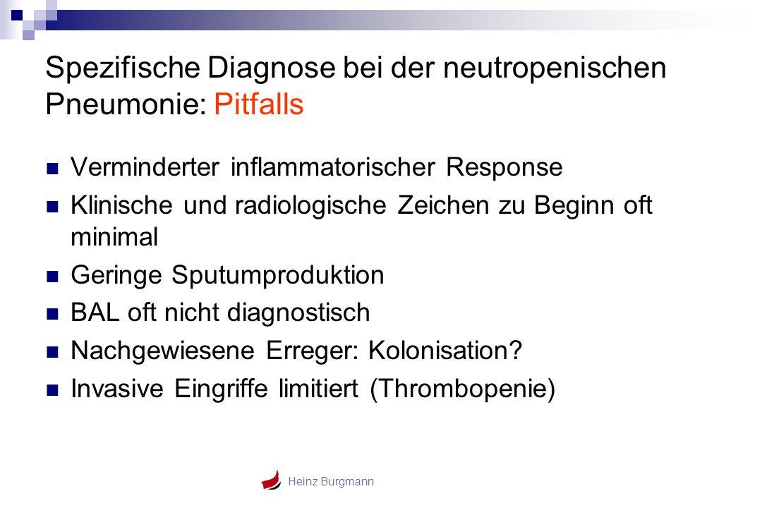 Spezifische Diagnose bei der neutropenischen Pneumonie: Pitfalls