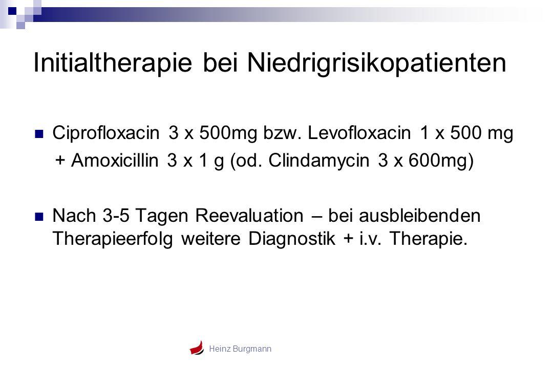 Initialtherapie bei Niedrigrisikopatienten