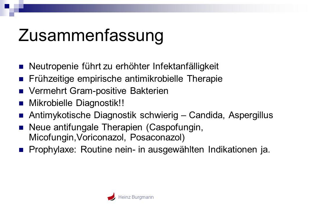 Zusammenfassung Neutropenie führt zu erhöhter Infektanfälligkeit