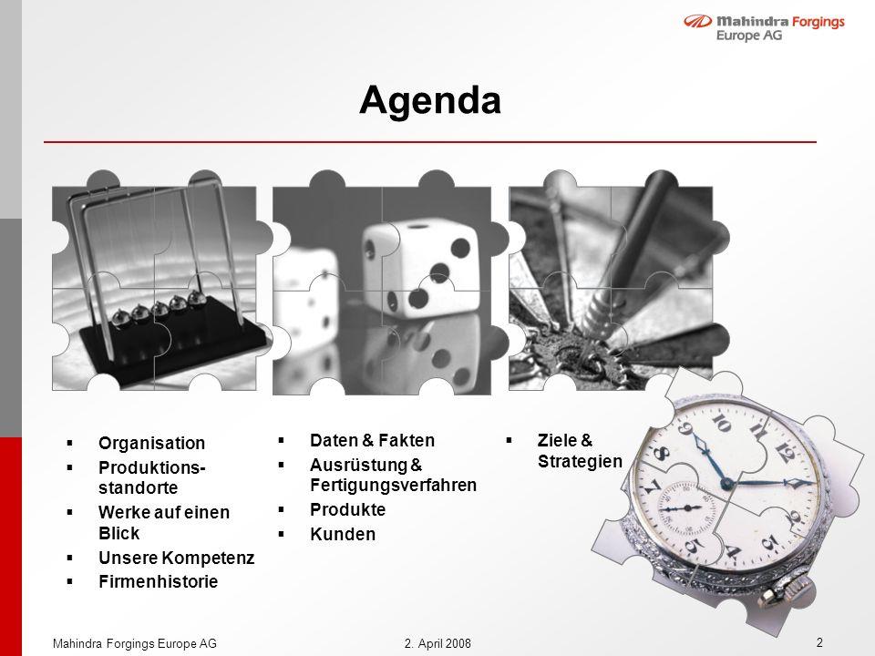 Agenda Organisation Produktions-standorte Werke auf einen Blick