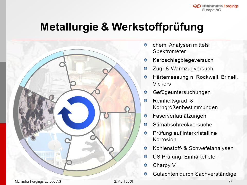 Metallurgie & Werkstoffprüfung