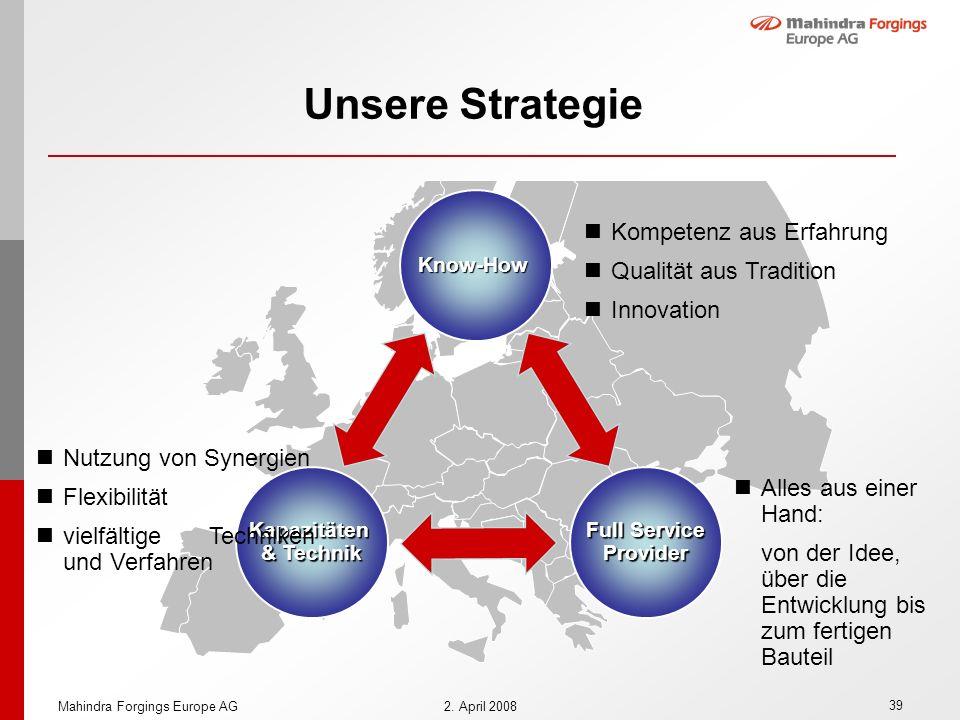 Unsere Strategie Kompetenz aus Erfahrung Qualität aus Tradition