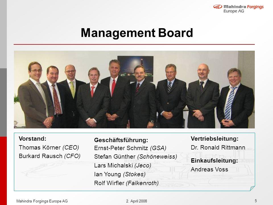 Management Board Vorstand: Thomas Körner (CEO) Burkard Rausch (CFO)