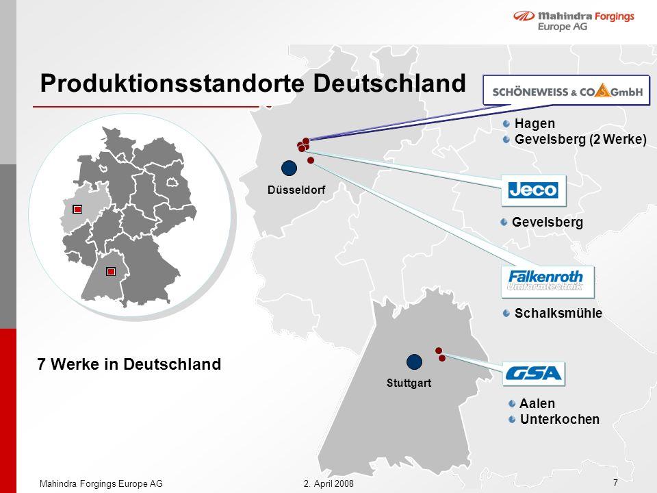 Produktionsstandorte Deutschland