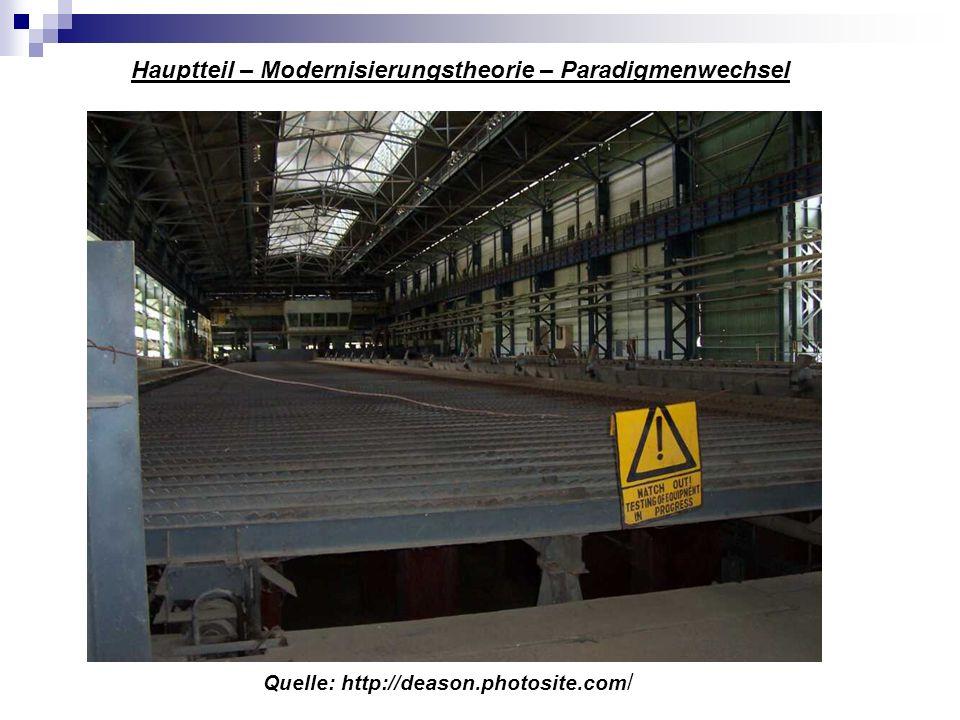 Hauptteil – Modernisierungstheorie – Paradigmenwechsel