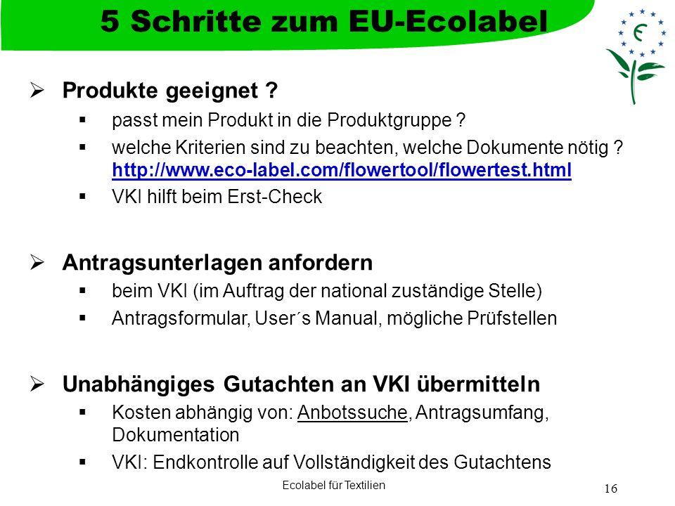 5 Schritte zum EU-Ecolabel