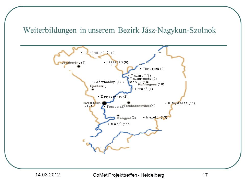Weiterbildungen in unserem Bezirk Jász-Nagykun-Szolnok