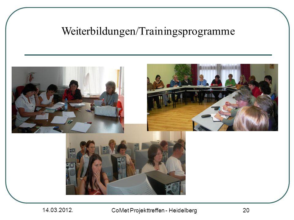 Weiterbildungen/Trainingsprogramme