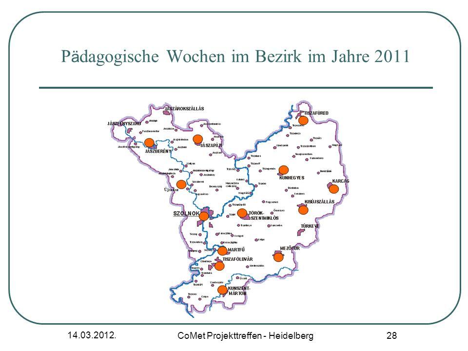 Pädagogische Wochen im Bezirk im Jahre 2011