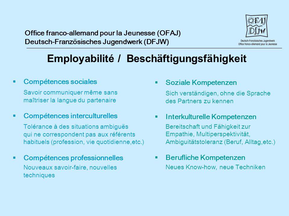 Employabilité / Beschäftigungsfähigkeit