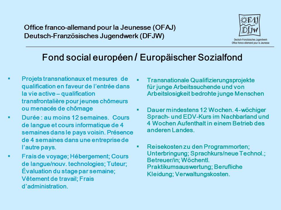 Fond social européen / Europäischer Sozialfond