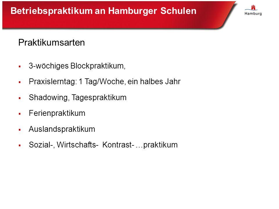 Betriebspraktikum an Hamburger Schulen