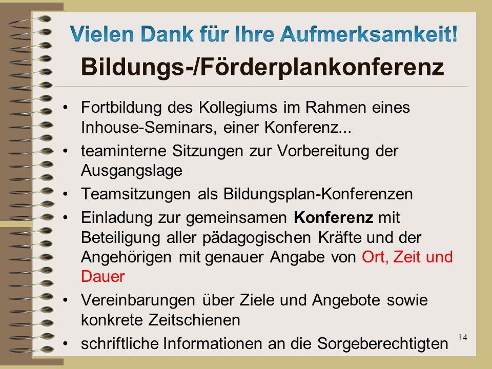 Bildungs-/Förderplankonferenz