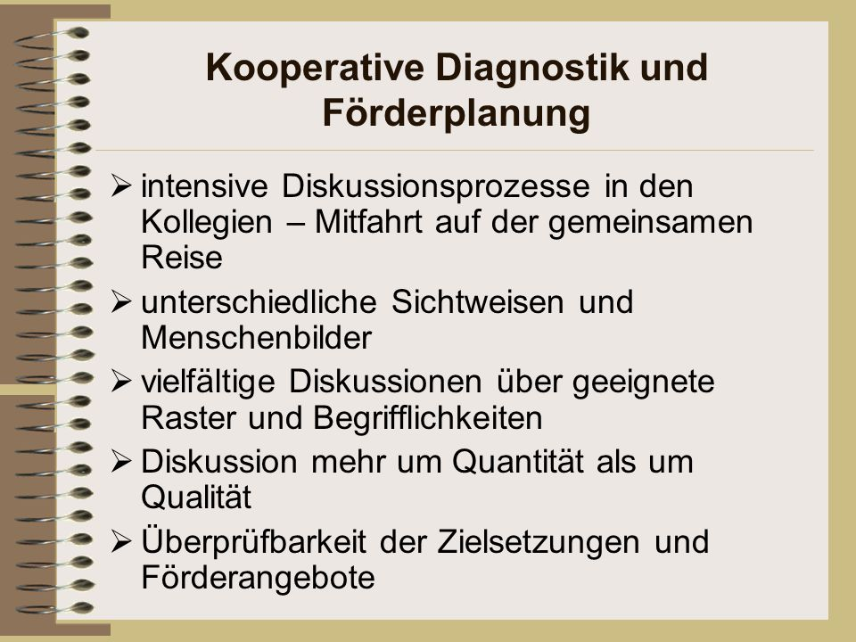 Kooperative Diagnostik und Förderplanung