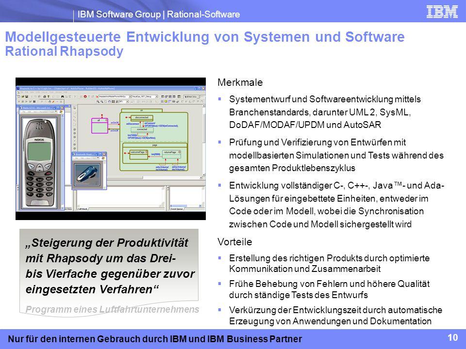 Modellgesteuerte Entwicklung von Systemen und Software Rational Rhapsody