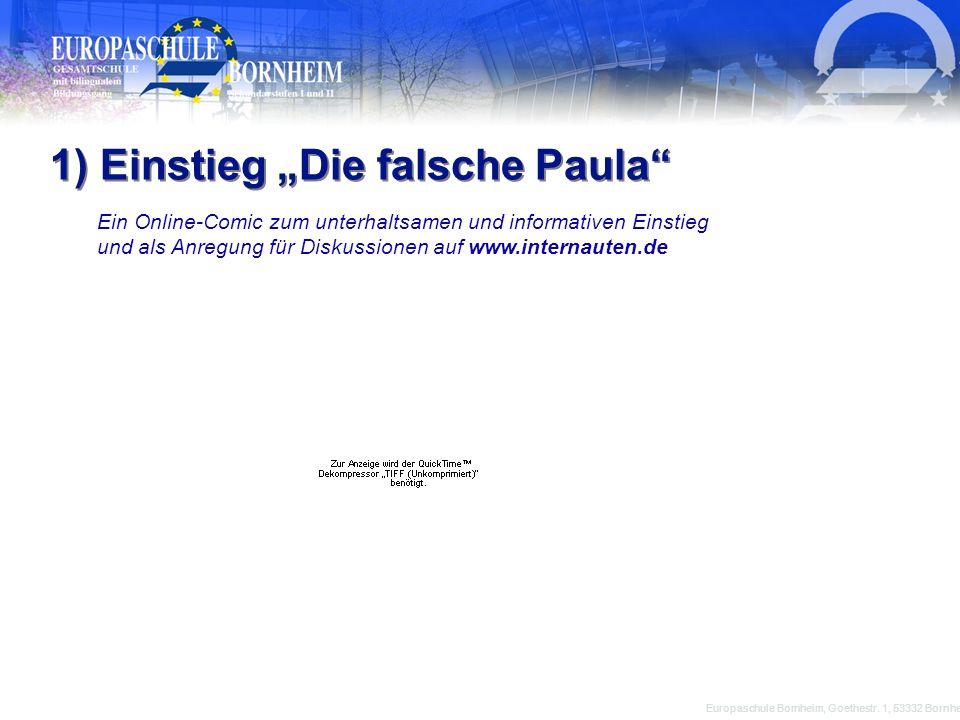 """1) Einstieg """"Die falsche Paula"""