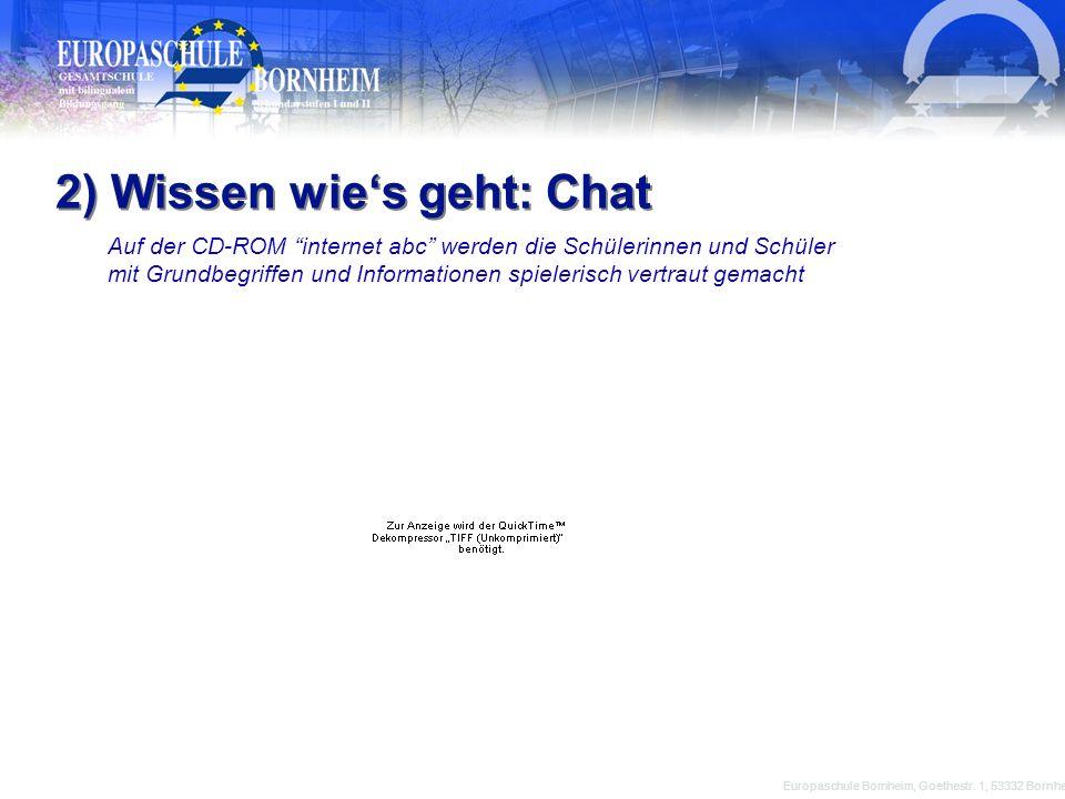 2) Wissen wie's geht: Chat
