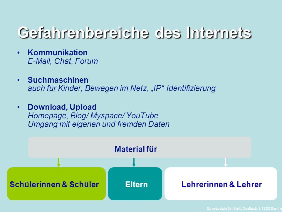 Gefahrenbereiche des Internets