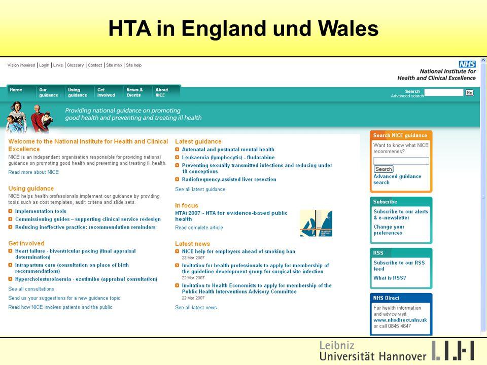 HTA in England und Wales