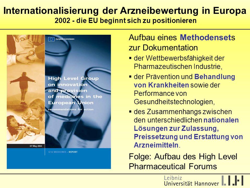 Internationalisierung der Arzneibewertung in Europa 2002 - die EU beginnt sich zu positionieren