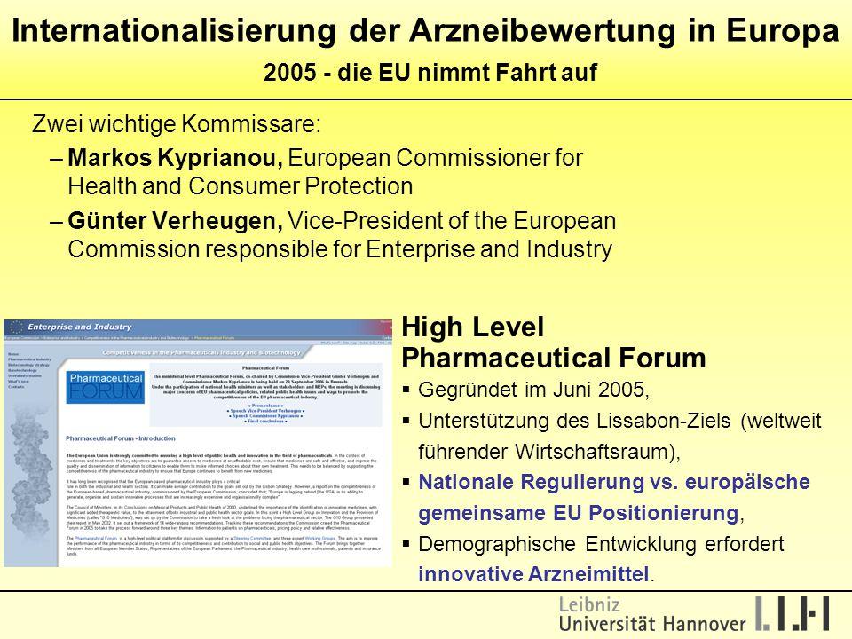 Internationalisierung der Arzneibewertung in Europa 2005 - die EU nimmt Fahrt auf