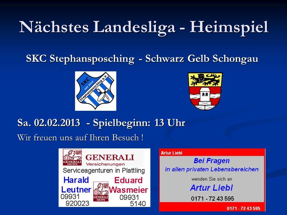 Nächstes Landesliga - Heimspiel