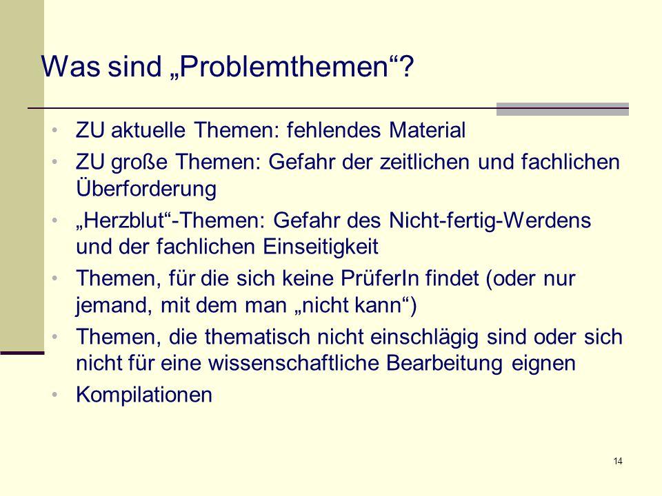 """Was sind """"Problemthemen"""