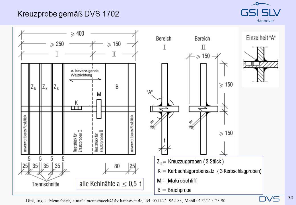 Kreuzprobe gemäß DVS 1702 Dipl,-Ing. J.