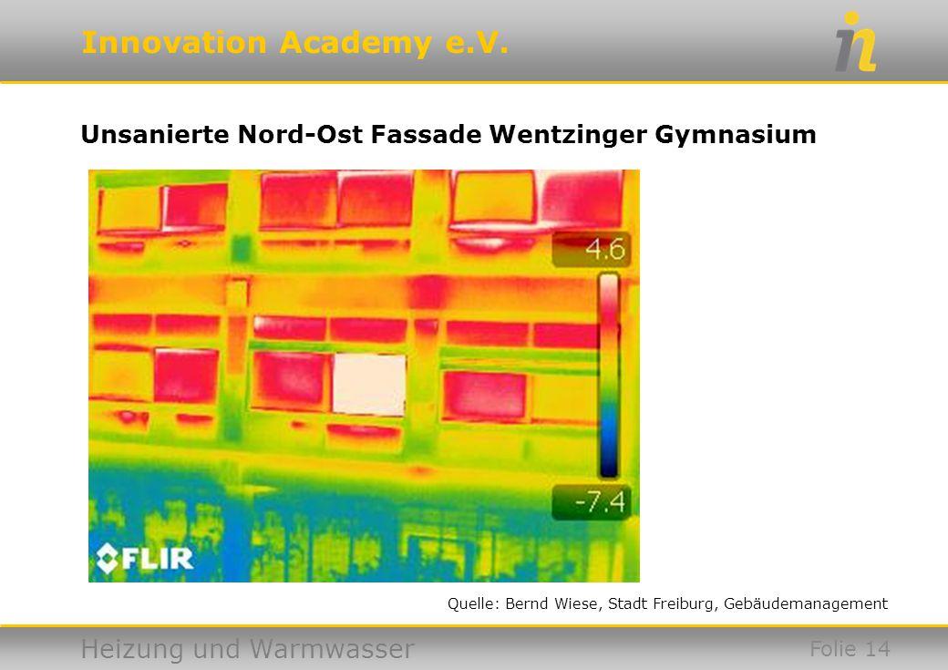 Unsanierte Nord-Ost Fassade Wentzinger Gymnasium
