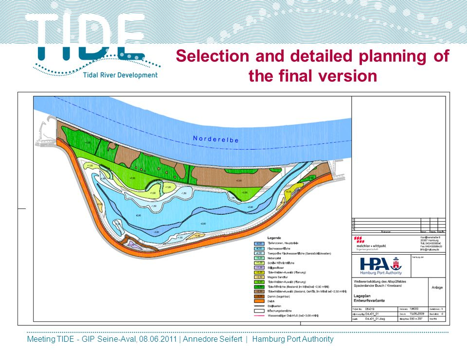 Selection and detailed planning of the final version