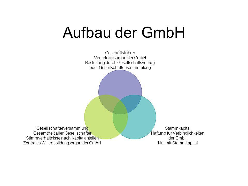 Aufbau der GmbH