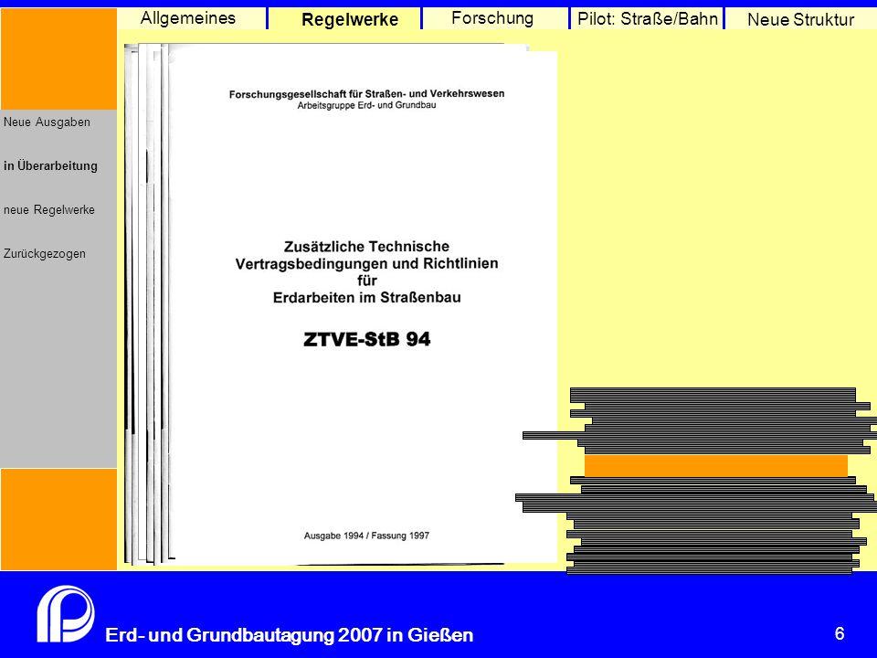 Neue Regelwerke (Ausgabe 2007)