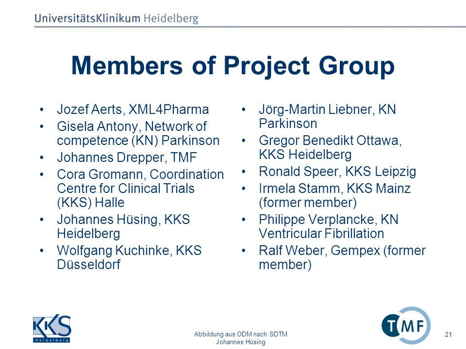 Members of Project Group