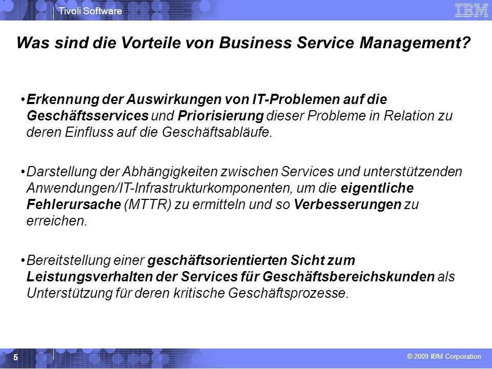 Was sind die Vorteile von Business Service Management