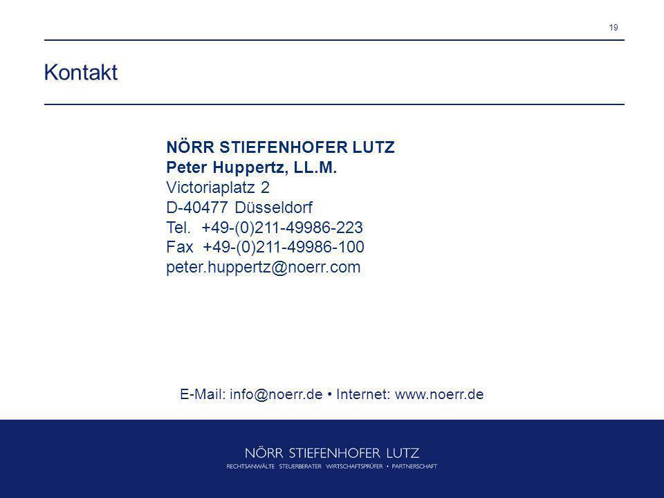 E-Mail: info@noerr.de • Internet: www.noerr.de