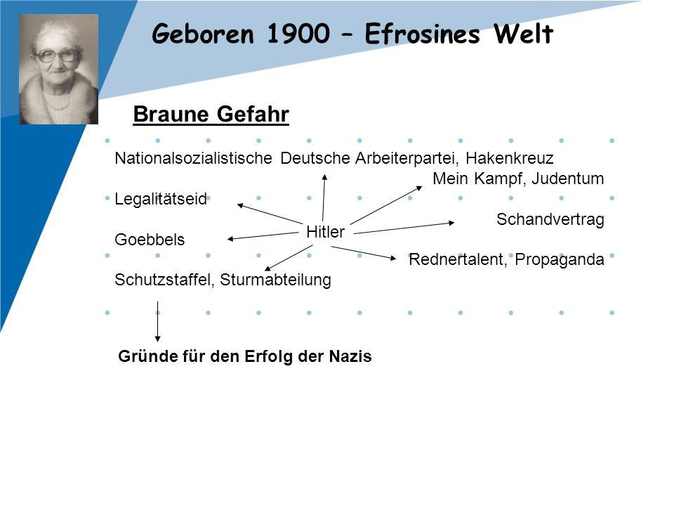 Braune Gefahr Nationalsozialistische Deutsche Arbeiterpartei, Hakenkreuz. Mein Kampf, Judentum. Legalitätseid.