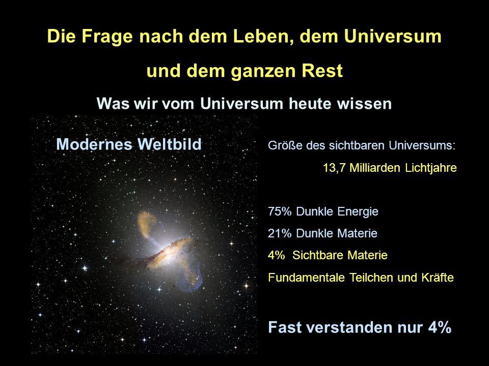 Die Frage nach dem Leben, dem Universum und dem ganzen Rest