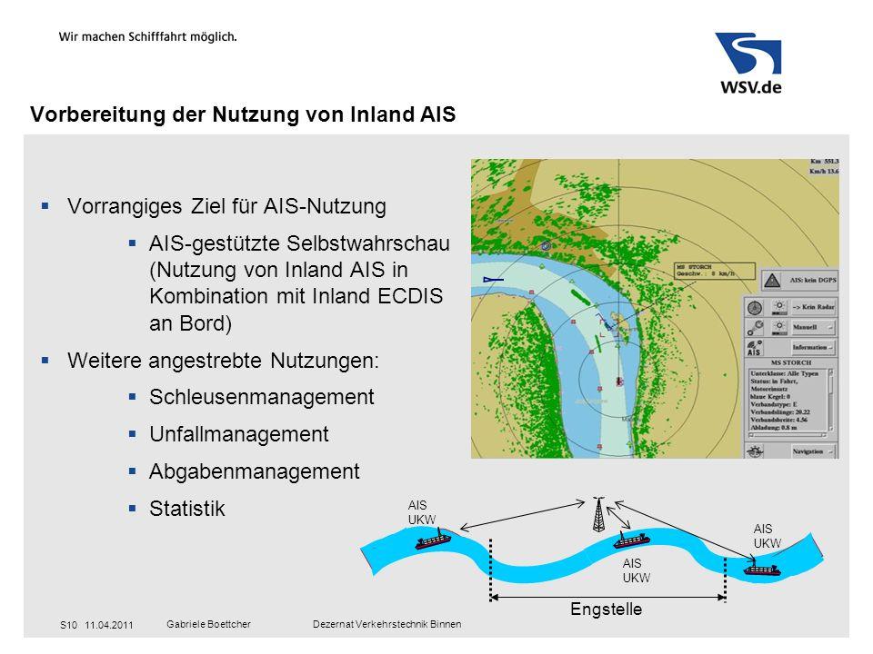 Vorbereitung der Nutzung von Inland AIS