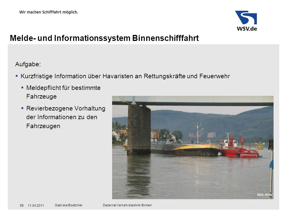 Melde- und Informationssystem Binnenschifffahrt