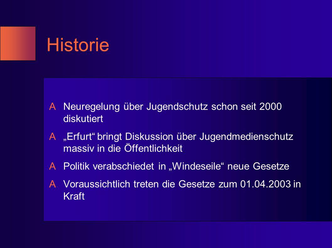 Historie Neuregelung über Jugendschutz schon seit 2000 diskutiert