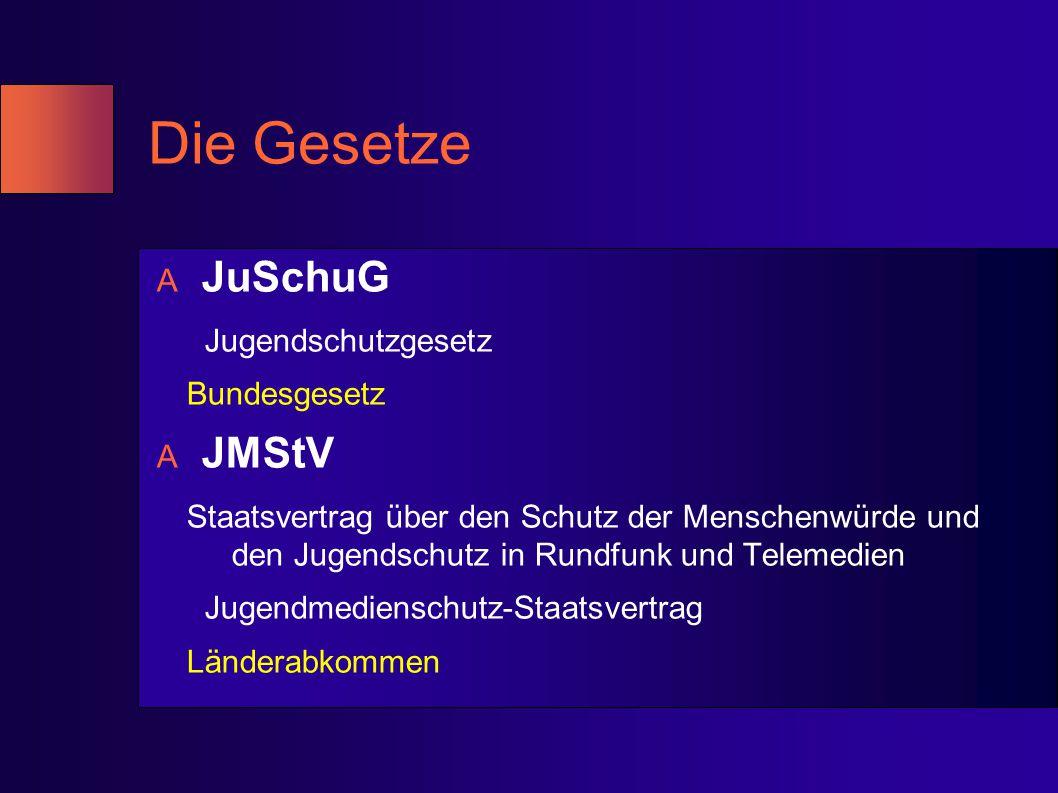 Die Gesetze JuSchuG JMStV Jugendschutzgesetz Bundesgesetz