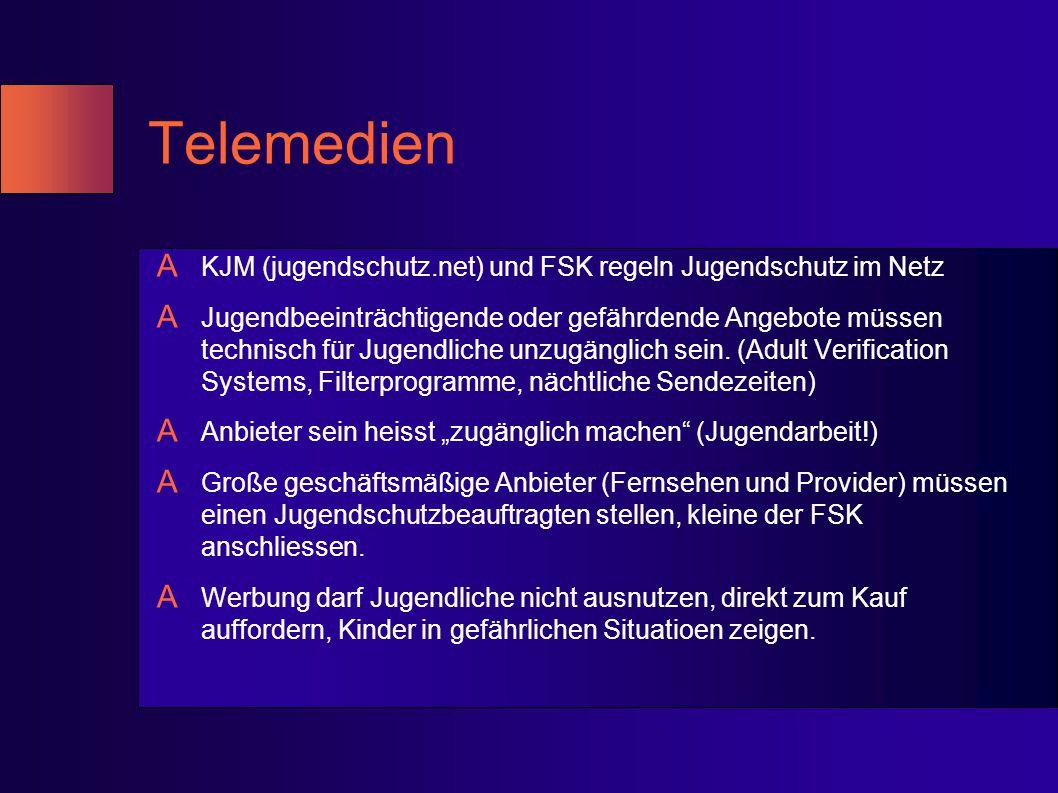 Telemedien KJM (jugendschutz.net) und FSK regeln Jugendschutz im Netz