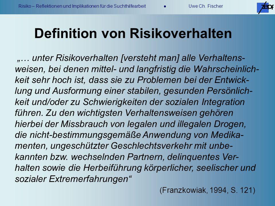 Definition von Risikoverhalten