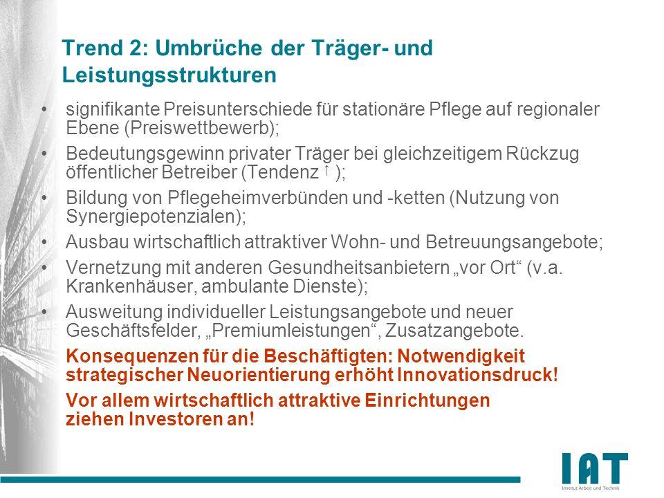 Trend 2: Umbrüche der Träger- und Leistungsstrukturen