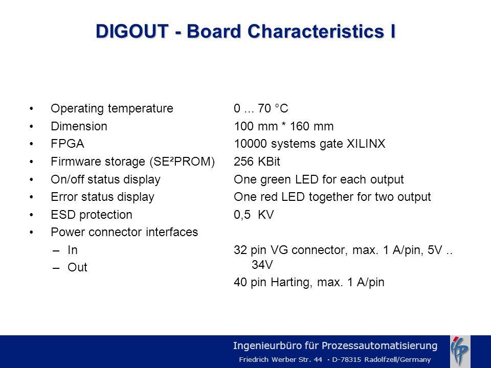 DIGOUT - Board Characteristics I