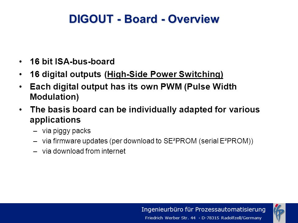 DIGOUT - Board - Overview