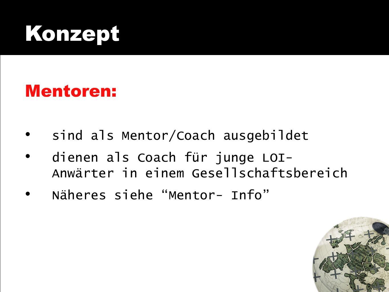 Konzept Mentoren: sind als Mentor/Coach ausgebildet