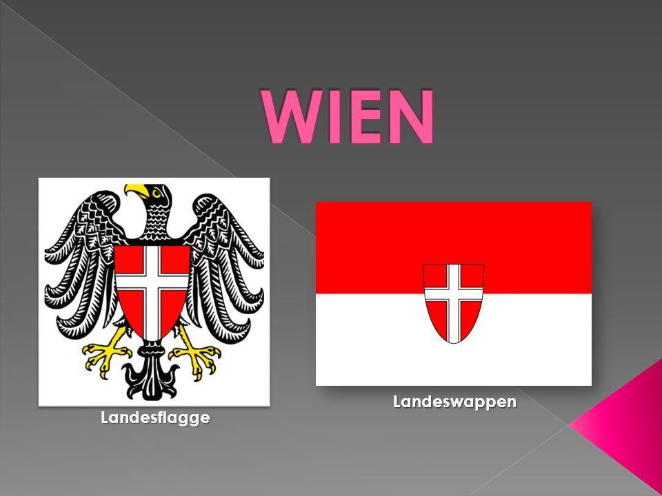 WIEN Landeswappen Landesflagge