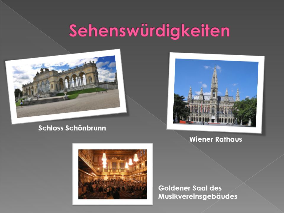 Sehenswürdigkeiten Schloss Schönbrunn Wiener Rathaus