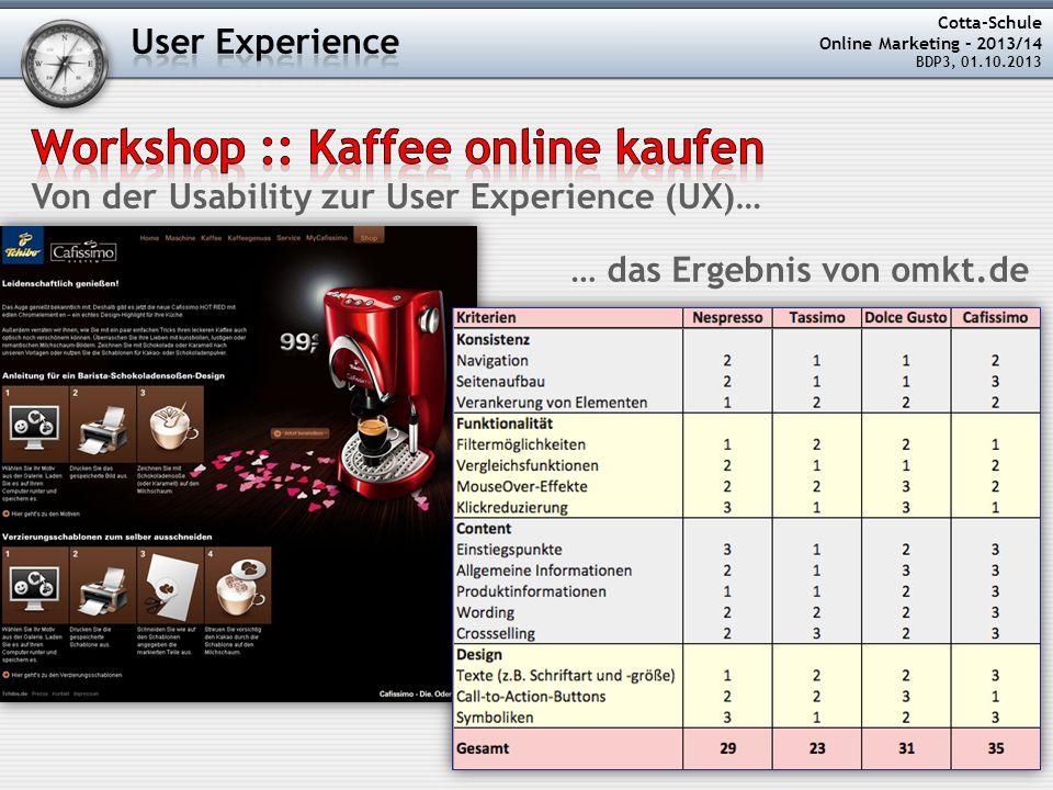 Workshop :: Kaffee online kaufen
